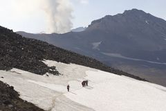 Le Kamtchatka. Volcan. Image libre de droits