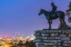 Le Kansas, Missouri, Etats-Unis 09-15-17, bel horizon de Kansas City à images libres de droits