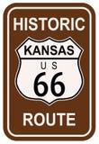 Le Kansas Route 66 historique Image stock