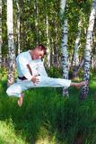 Le karateka. Photographie stock