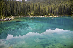 Le Karersee, Italie Images stock