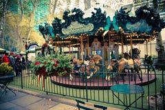 Le Karusell Bryant Park Royaltyfria Bilder