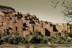 Le Kasbah d'AIT Benhaddou, Maroc Images stock
