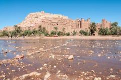 Le Kasbah d'AIT Benhaddou, Maroc Images libres de droits