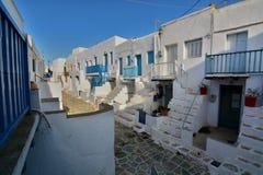 Le Kastro de Chora, île de Folegandros Îles de Cyclades La Grèce Photographie stock libre de droits