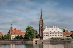 Le Katedra chez l'Odra à Wroclaw en Pologne image stock