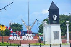 Le kilomètre de Manille mettent dedans Manille à zéro, Philippines Images libres de droits