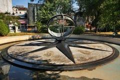 Le kilomètre mettent dedans Bucarest à zéro Roumanie Images libres de droits