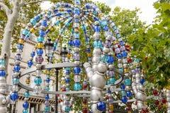 Le Kiosque des Noctambules a Parigi, Francia Fotografia Stock Libera da Diritti