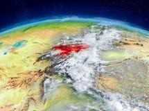 Le Kirghizistan sur terre Photos libres de droits