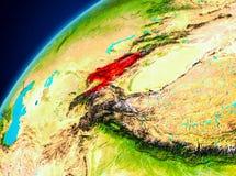 Le Kirghizistan sur terre de l'espace Photos libres de droits