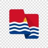 Le Kiribati - drapeau national illustration stock