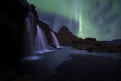 Le kirkjufell de paysage de l'Islande Images libres de droits