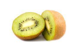 le kiwi de fond partie le blanc Image libre de droits