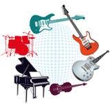 Le klaxon de musique a placé 3 Photographie stock libre de droits