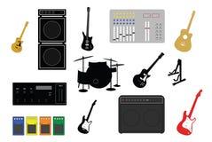 Le klaxon de musique a placé 3 illustration stock