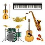 Le klaxon de musique a placé 3 illustration de vecteur