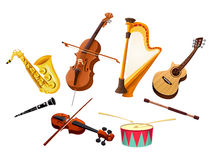 Le klaxon de musique a placé 3 Photo libre de droits