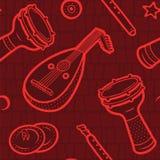 Le klaxon de musique a placé 3 Musique turque Fond arabe Configuration de vecteur illustration libre de droits