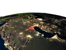 Le Kowéit de l'espace la nuit illustration de vecteur