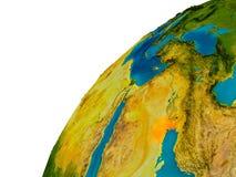 Le Kowéit sur le globe Photo stock