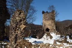 le kremenec de château ruine l'Ukraine Images libres de droits