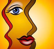 le kvinna för abstrakt framsida Fotografering för Bildbyråer