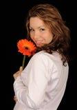 le kvinna för blomma Royaltyfri Foto