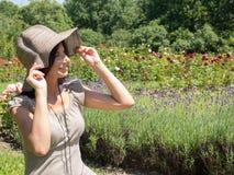 le kvinna för hatt Royaltyfri Bild