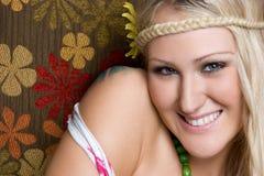 le kvinna för hippie Royaltyfri Fotografi