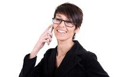 le kvinnabarn för mobil telefon Arkivbild
