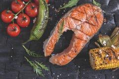 Le légume a grillé des champignons de pommes de terre de maïs de paprika de poivre de tomates Photo libre de droits