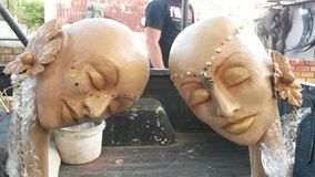 Le L sculptures Photographie stock