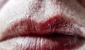 Le labbra si chiudono su Fotografie Stock