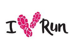 Le label d'emblèmes de logo courant de marathon et le succès pulsants d'insigne de motivation de sprint de symbole d'athlète de f illustration de vecteur