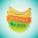 Le label de fruit de banane, illustration de vecteur Image libre de droits