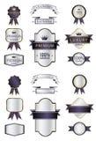 Le label de la meilleure qualité vide et bouge pourpre et argenté de luxe illustration stock