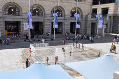 Le labyrinthe interactif de l'eau : Perth, Australie photo libre de droits
