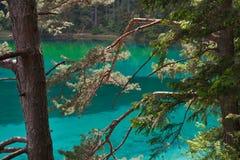 Le lac au coeur de l'Autriche avec le vert a coloré l'eau Photos stock