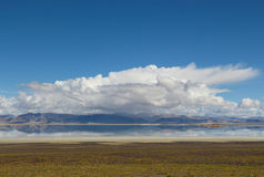 Le lac au Thibet Images libres de droits