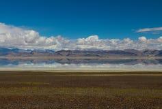 Le lac au Thibet Image libre de droits