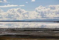 Le lac au Thibet Images stock