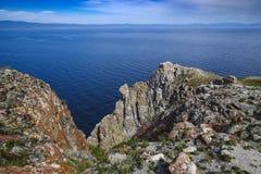 le lac Baïkal, vue de détroit de SmallSea photos libres de droits