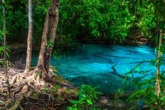 Le lac bleu le plus pur dans la province de Krabi, Thaïlande Image stock