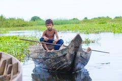 Le lac Cambodge de sève de Tonle photographie stock libre de droits
