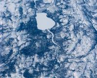 le lac canadien aérien aiment la vue de spermatozoïde photo stock