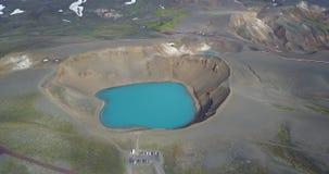 Le lac dans la bouche du volcan clips vidéos