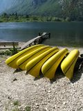 Le lac de Bohinj dans Slovebia Photographie stock libre de droits