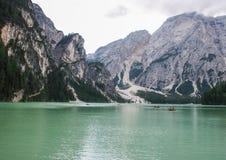 Le lac de Braies Image stock