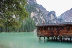 Le lac de Braies Image libre de droits